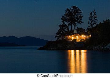 Dream house - Lighted house on Pacific coast, Washington...