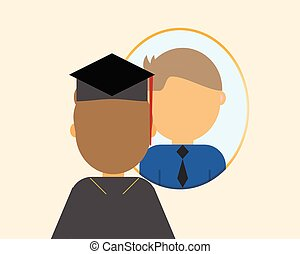 Dream job after graduation vector