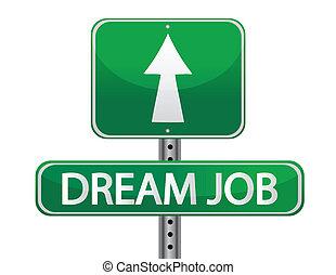 Dream job street sign