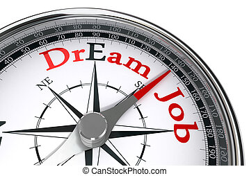 dream job the way indicated by concept compass