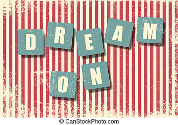 dream on background wallpaper vector illustration format