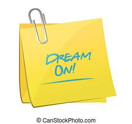 dream on post message illustration
