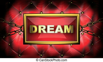 dream on velvet background