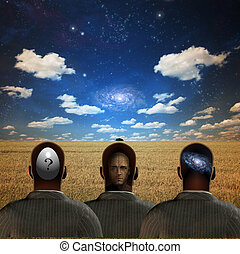 Dream - Three figures in field