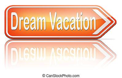 dream vacation traveling towards holiday destination summer...
