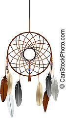 Dreamcatcher - Native american indian dreamcatcher over...