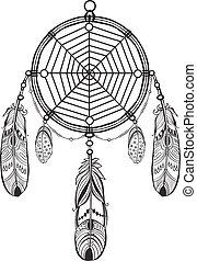 Dreamcatcher - Native American Indian talisman dreamcatcher...