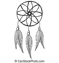 Dreamcatcher, vector illustration