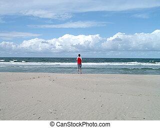 Dreaming - Looking at the ocean dreaming