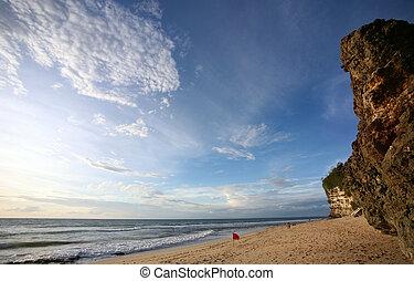 Dreamland beach - Bali, Indonesia in february