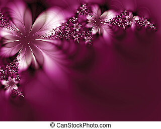 Dreamlike flowers. Vector illustration