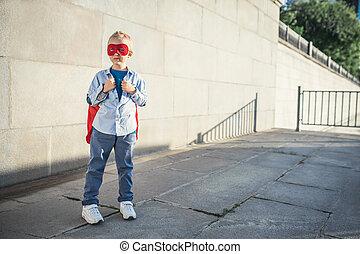 Dreamlike - Little boy dressed as superman