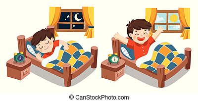dreams., わずかしか, 夢, 男の子, 甘い, の上, 睡眠, 今晩, よい, 航跡, 夜, morning., 彼