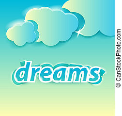 dreams lettering editable vector illustration