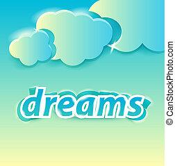 dreams lettering editable vector illustration