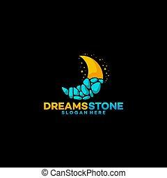 Dreams Stone Logo concept vector illustration