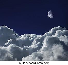 Dreamscape - Cumulus clouds shot from a high altitude...