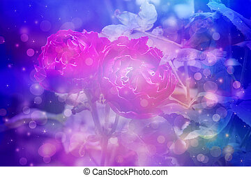 Dreamy background with beautiful, egzotic flowers close up