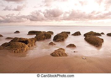 Dreamy beach rocks