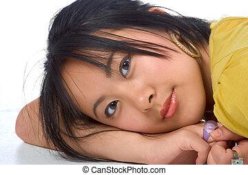 Dreamy Chinese girl