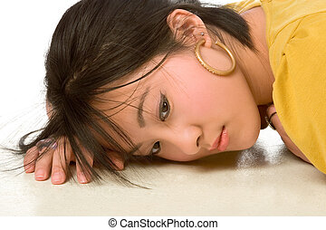 Dreamy Chinese woman