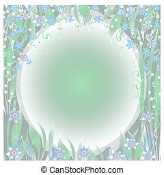 dreamy garden illustration
