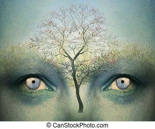 Dreamy mind - Beautiful artistic fantasy background...