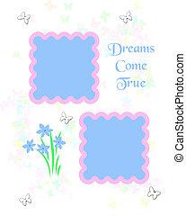 dreamy scrapbook frame