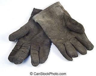 dreckige , bedienen handschuhe
