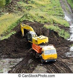 dredge and dumper truck