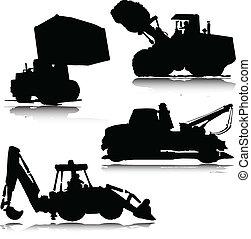 dredge mix vector silhouettes