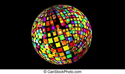 drehen, disko, kugelförmig