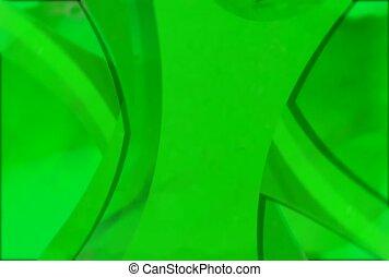 drehen, glanz, grün