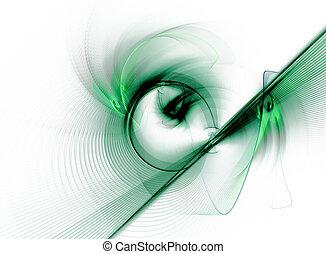 drehen, grüner abriß, fractal