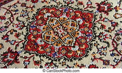 drehen, orientalische , teppich