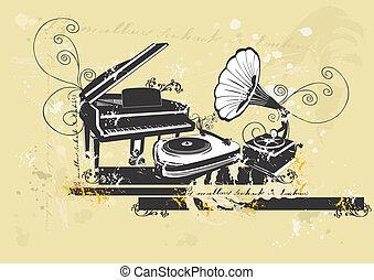 drehscheiben, klavier