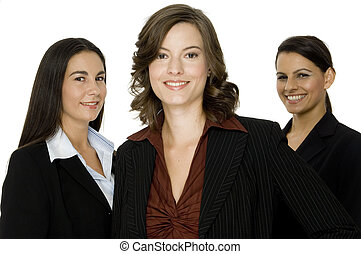 drei, geschäftsfrauen
