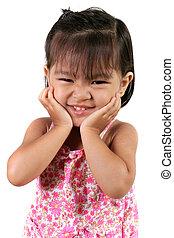 drei, jährige, asiatisch