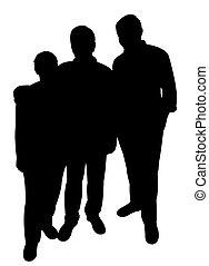 drei leute, zusammen