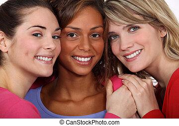 drei, weibliche , friends
