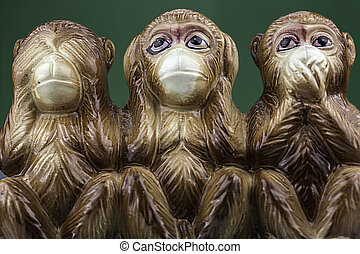 Drei Weise Affen
