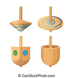 Dreidel four-sided spinning top, played with during the...