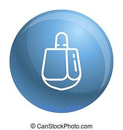 Dreidel icon, outline style