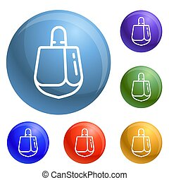 Dreidel icons set