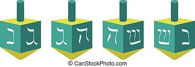 Vector illustration of a dreidel, no transparencies, EPS 8