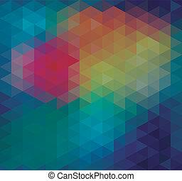 dreieck, neon, seamless, hintergrund
