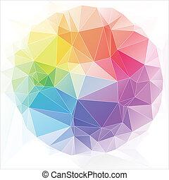 dreiecke, stil, abstrakt, hintergrund, dreieckig