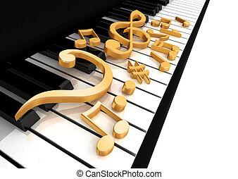 dreifach, klavier, notenschluessel