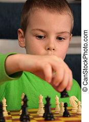 dreng, spill, chess