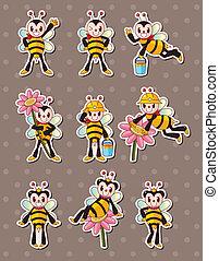 dreng, stickers, cartoon, bi